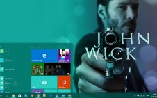 John Wick win10 theme