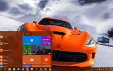 Dodge Viper win10 theme