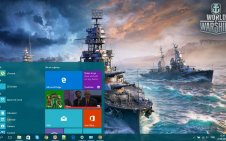 World of Warships win10 theme