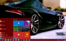 Toyota Supra win10 theme