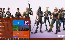 Fortnite win10 theme