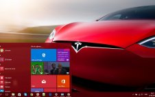 Tesla win10 theme