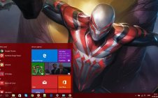 Spider-Man 2099 win10 theme