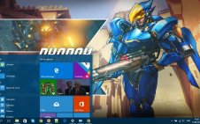 Pharah (Overwatch) win10 theme