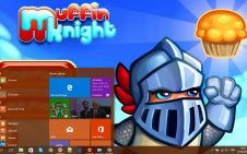 Muffin Knight win10 theme