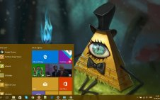 Bill Cipher win10 theme