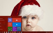 Christmas Babies win10 theme