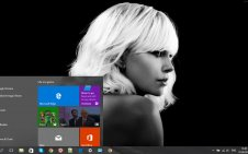 Atomic Blonde win10 theme