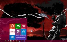 Afro Samurai win10 theme