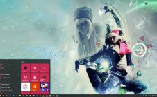 Dancing Girl win10 theme