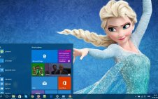Frozen win10 theme