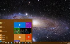 Milky Way win10 theme
