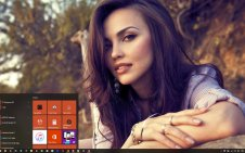 Beautiful Women win10 theme