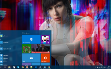 Ghost in the Shell (Movie) win10 theme