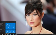 Bella Hadid win10 theme
