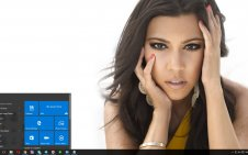 Kourtney Kardashian win10 theme