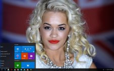 Rita Ora win10 theme