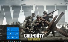 Call of Duty WW2 win10 theme