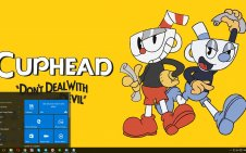 Cuphead win10 theme