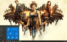 Resident Evil: The Final Chapter win10 theme
