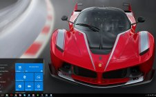 Ferrari FXX win10 theme