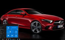 Mercedes CLS 2018 win10 theme