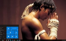 Muay Thai win10 theme