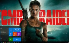 Lara Croft win10 theme