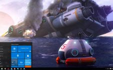 Subnautica win10 theme