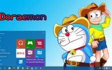 Doraemon win10 theme