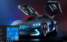 Electric cars win10 theme