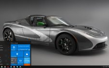 Tesla Roadster win10 theme