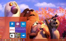 The Nut Job win10 theme