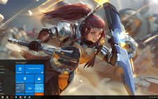 Brigitte (Overwatch) win10 theme