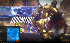 Doomfist (Overwatch) win10 theme