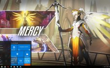 Mercy (Overwatch) win10 theme