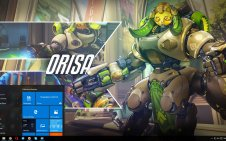 Orisa (Overwatch) win10 theme