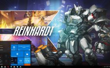 Reinhardt (Overwatch) win10 theme