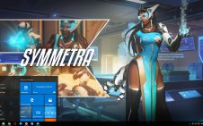 Symmetra (Overwatch) win10 theme