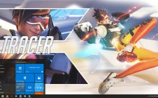 Tracer (Overwatch) win10 theme