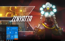 Zenyatta (Overwatch) win10 theme
