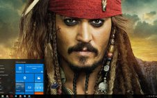 Jack Sparrow win10 theme