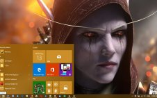 Sylvanas Windrunner win10 theme