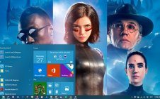 Alita: Battle Angel win10 theme