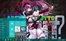 Highschool of the Dead win10 theme