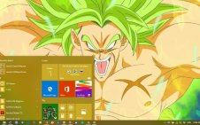 Broly win10 theme