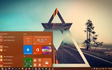 Polyscape win10 theme