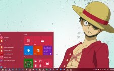 Monkey D. Luffy win10 theme