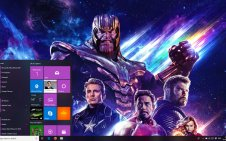 Avengers: Endgame win10 theme