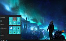 Futuristic City win10 theme